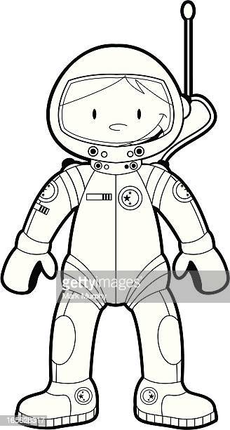 colour in astronaut - helmet visor stock illustrations, clip art, cartoons, & icons