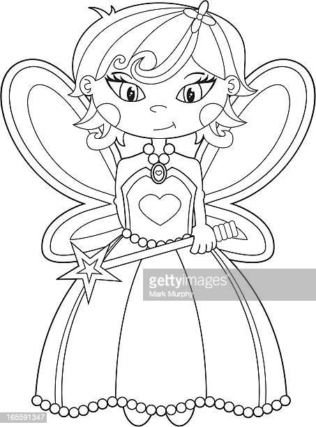 Colour In Cute Fairy Character
