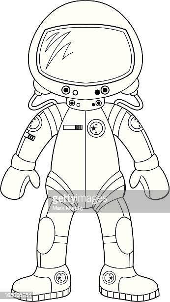 Farbe In Spacesuit