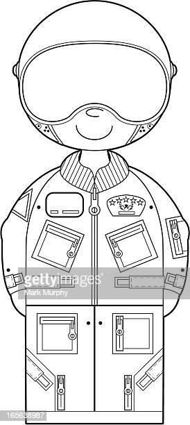colour in usaf pilot - helmet visor stock illustrations, clip art, cartoons, & icons