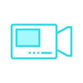 VIDEO CAMERA colour line icon