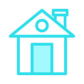HOME Colour Line Vector Icon