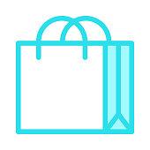 SHOPPING BAG Colour Line Vector Icon