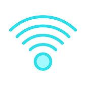 WIFI Colour Line Vector Icon