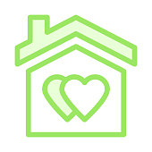 SWEET HOME Colour Line Vector Icon