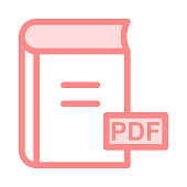 PDF colour line vector icon