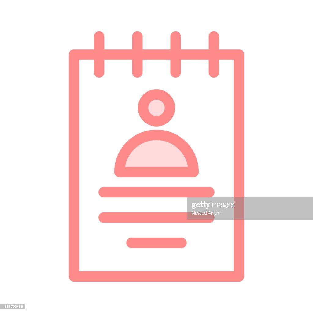 PROFILE colour line vector icon