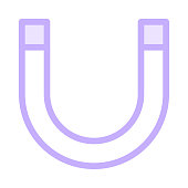 MAGNET colour line vector icon