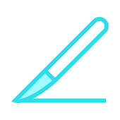 KNIFE colour line vector icon