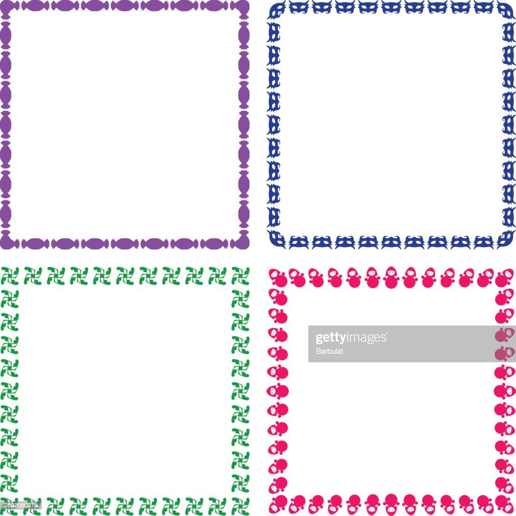 coloured child frames vector art getty images