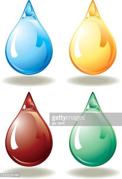 coloured drops