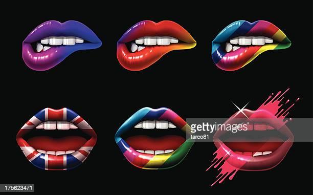 ilustrações, clipart, desenhos animados e ícones de lábios cor - lábio