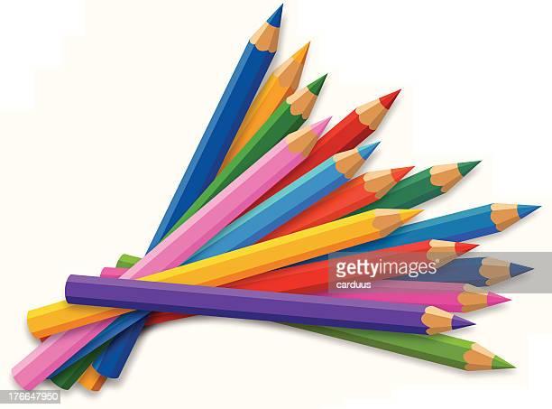 色鉛筆 - 鉛筆点のイラスト素材/クリップアート素材/マンガ素材/アイコン素材