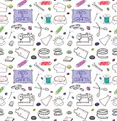 Coloured Sewing Set Background
