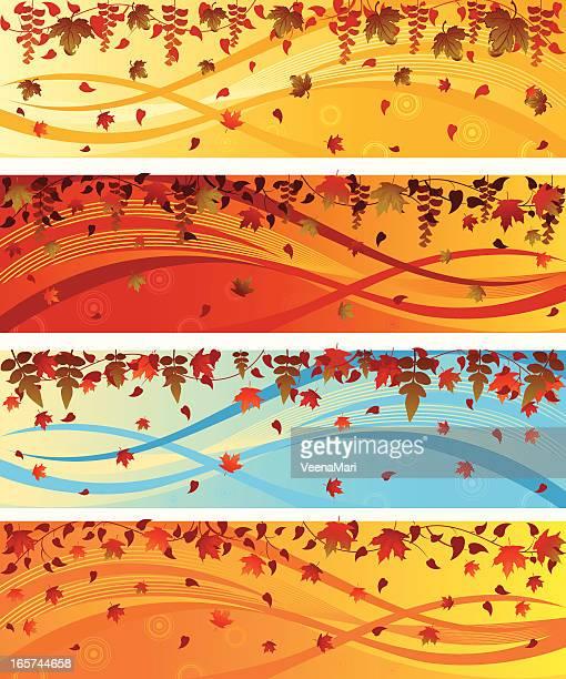 Colourful Autumn Celebration Banner..
