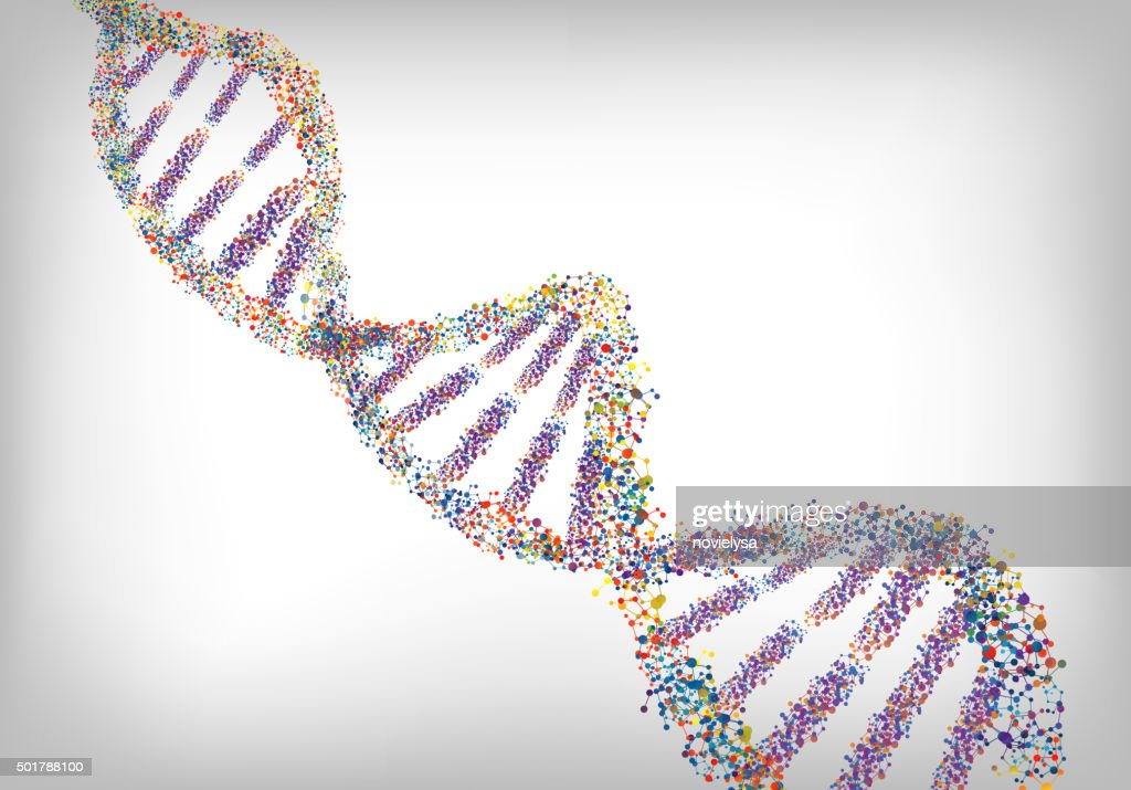 DNA colourful background. Vector
