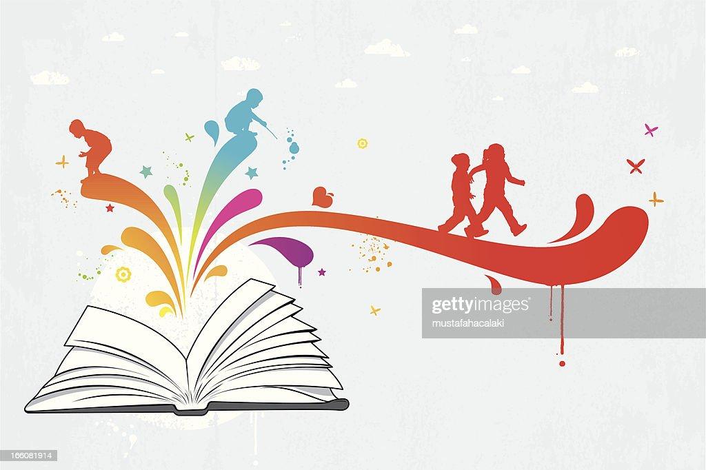 Colourful children book : stock illustration