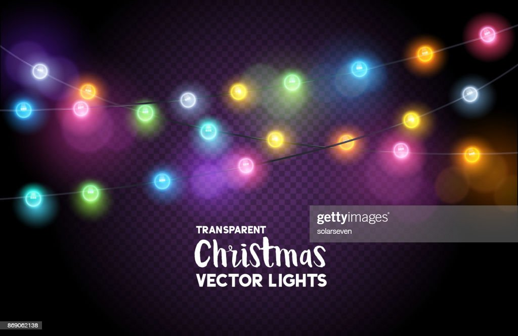 colourful Christmas fairy lights