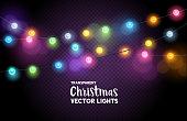 colourful Christmas fairy lights