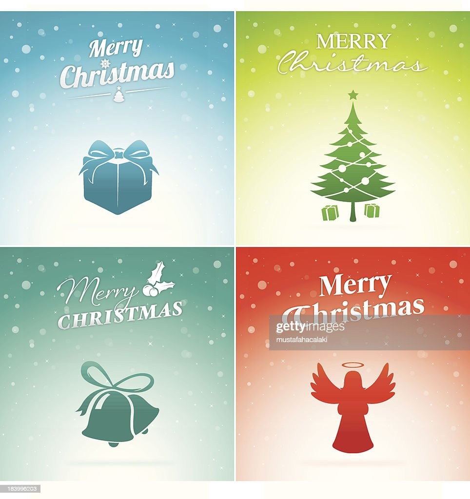Colourful Christmas Greeting Cards Vector Art Getty Images