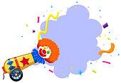 A Colourful Circus Clown Themplate