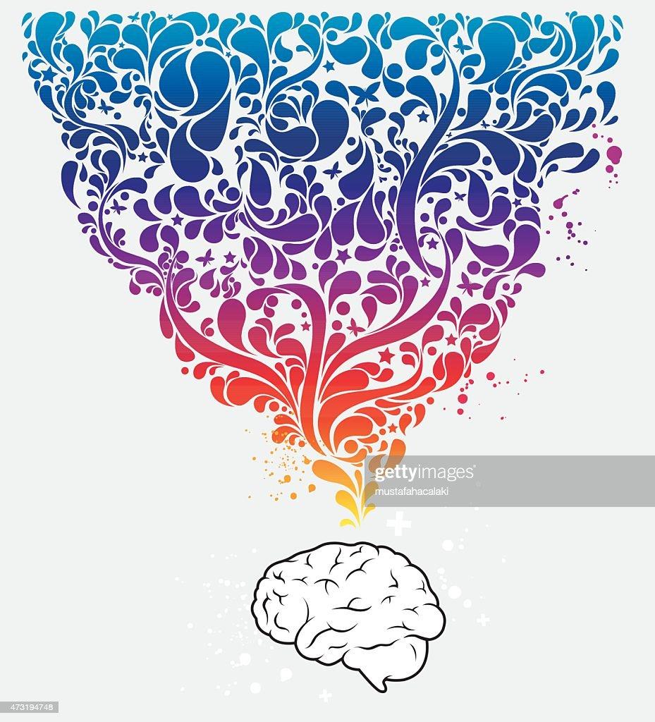 Colourful creative brain
