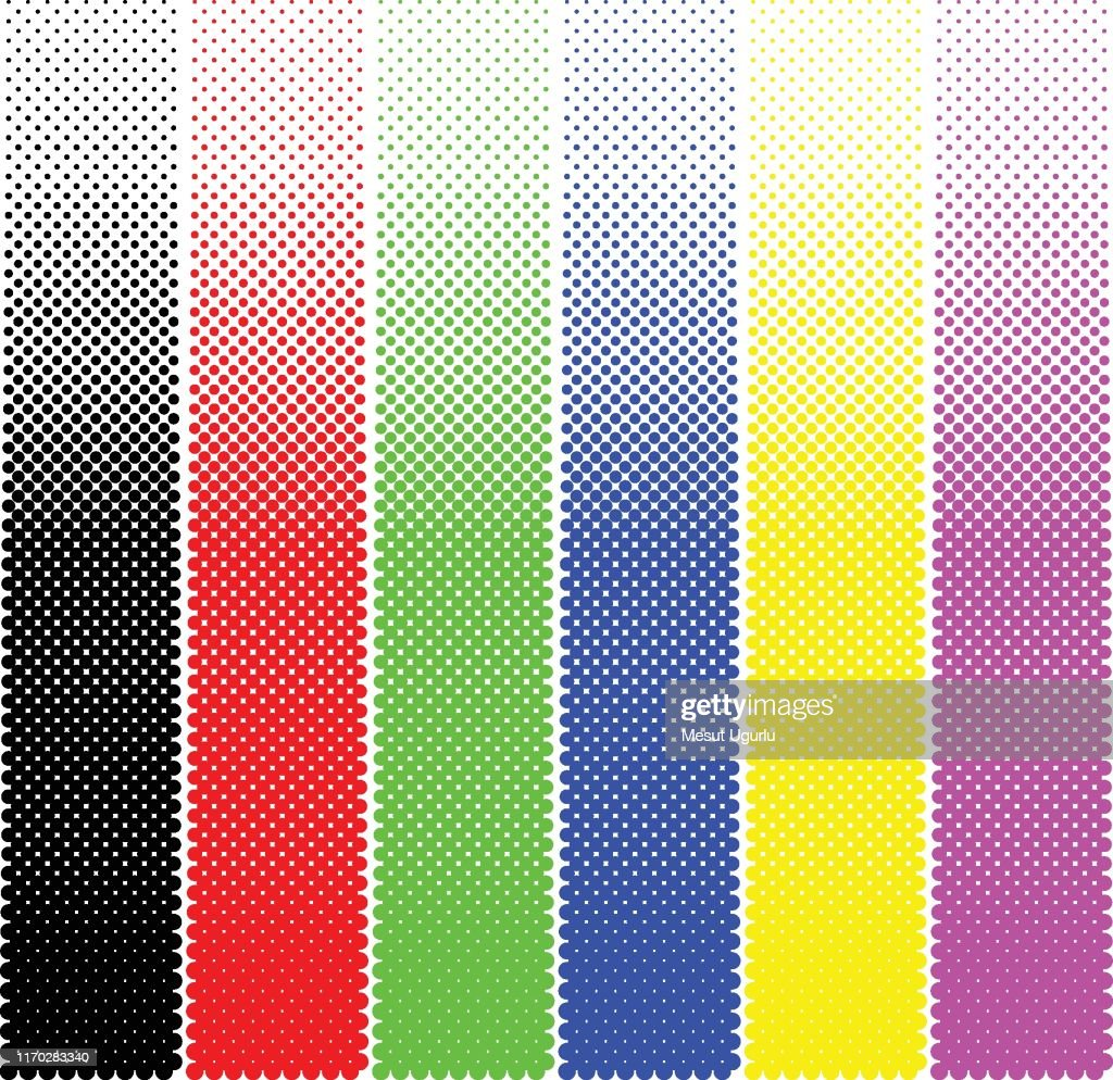 Colourful Halftone dotted pattern. : stock illustration
