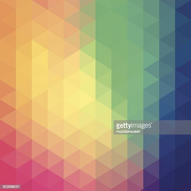 Colourful hexagon abstract background