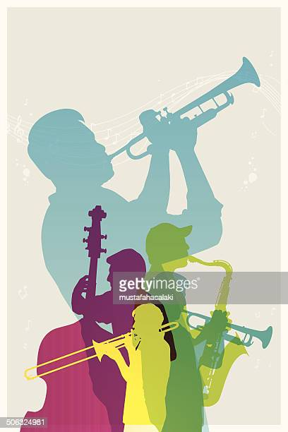Colourful Jazz band