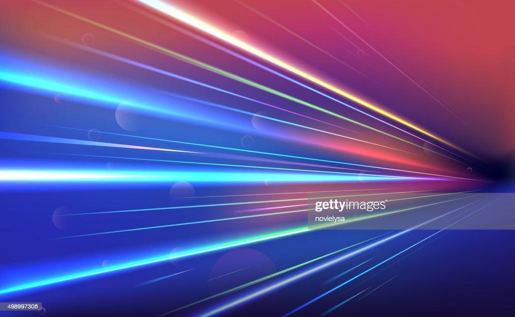 Colourful light rays