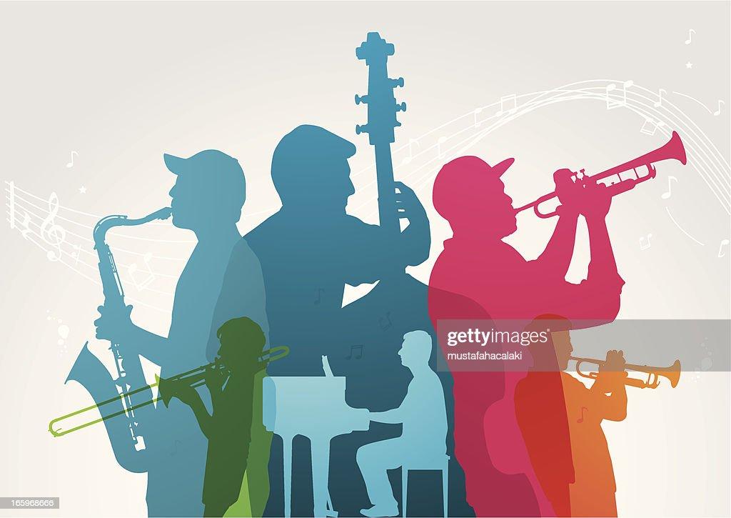 Colourful music band : stock illustration