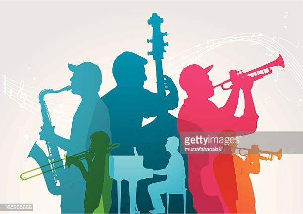 colourful music band - musician stock illustrations