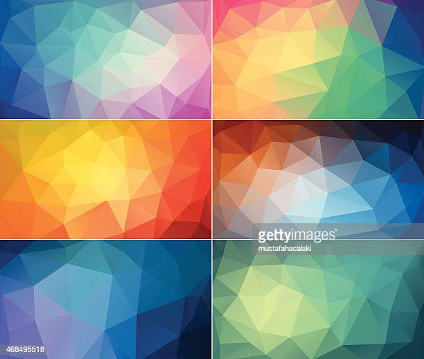 Colourful polygon abstract backgrounds