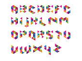 Colourful Prism Font