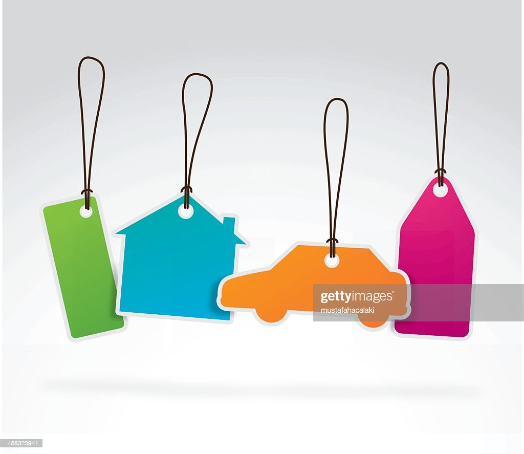 Colourful property labels