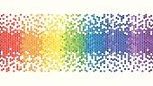 Colourful Rainbow Pixel Background