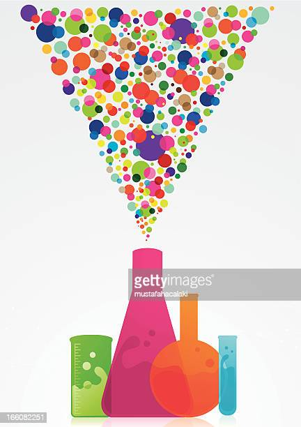 colourful science background - biochemistry stock illustrations