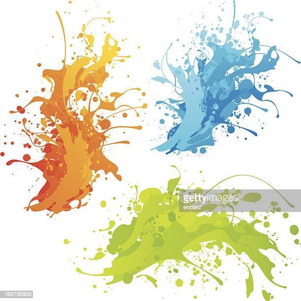 Colourful splashes