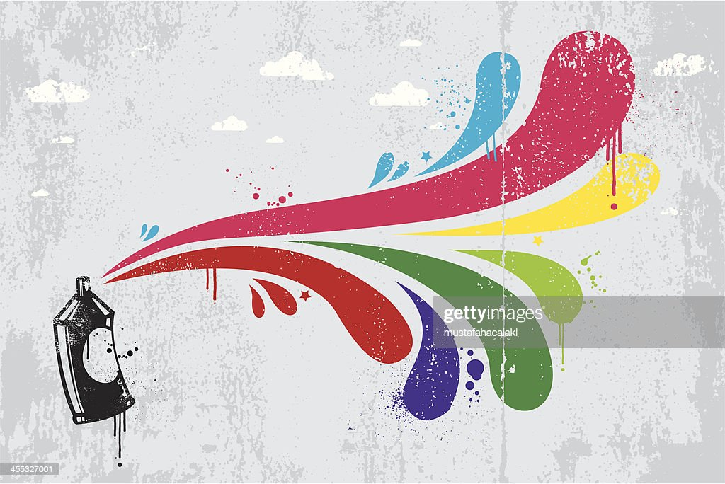Colourful spray graffiti background