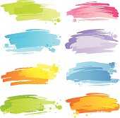 Colourful strokes with blobs