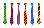 Colourful tie set
