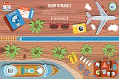 Colourful Travel Vector Banner