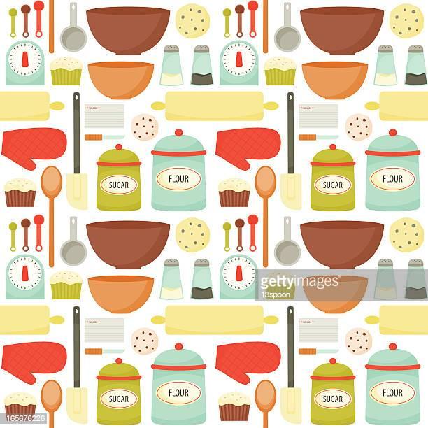 colrful baking pattern - baked stock illustrations, clip art, cartoons, & icons
