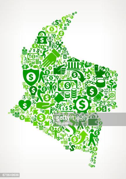 columbia money and finance green vector icon background - flipping a coin stock illustrations, clip art, cartoons, & icons