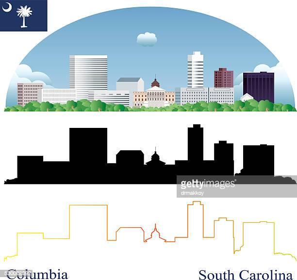 columbia skyline - columbia south carolina stock illustrations