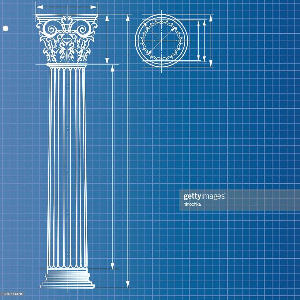 Column blueprint : stock illustration