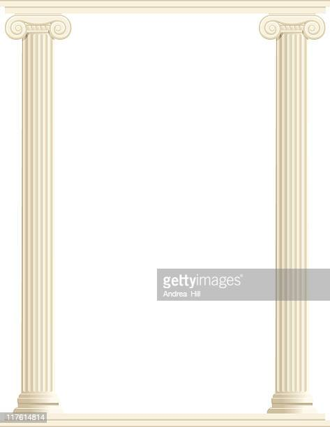column border - vertical - classical greek style stock illustrations