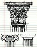 Column Capital sketches