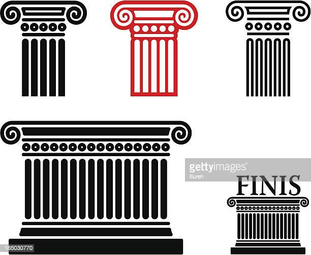 column elements - classical greek style stock illustrations