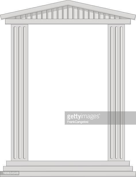 column frame - pediment stock illustrations, clip art, cartoons, & icons